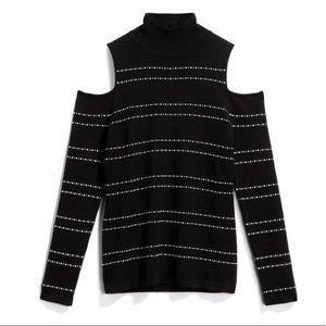 Cold Shoulder Turtleneck Pullover